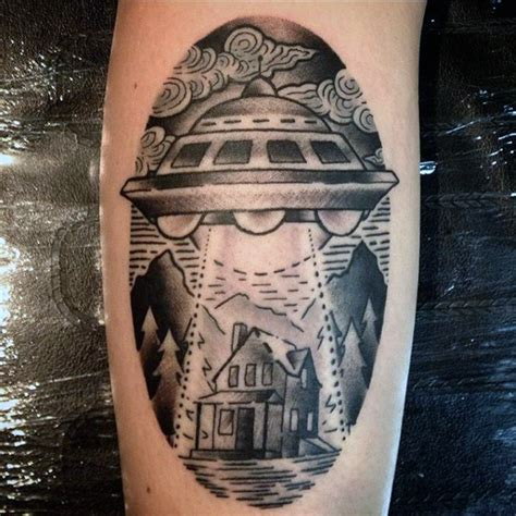 oval tattoo designs 100 ufo designs for abduction ink