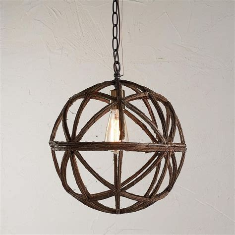 Spherical Pendant Light Twig Sphere Chandelier Or Pendant Light Available In 2 Colors Large