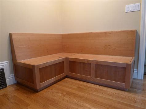 banquette storage custom cherry banquette by near west custommade com
