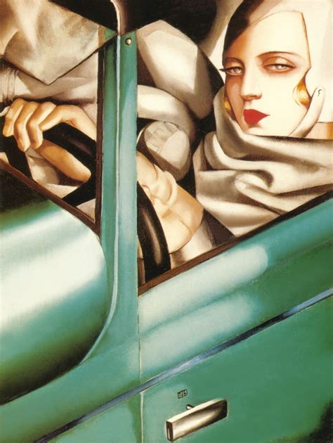 tamara de lempicka self portrait in the green bugatti tamara de lempicka