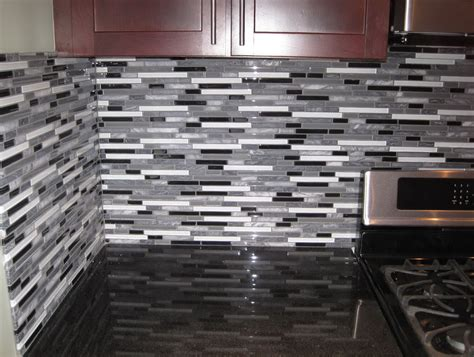 clear glass tile backsplash installation home design ideas