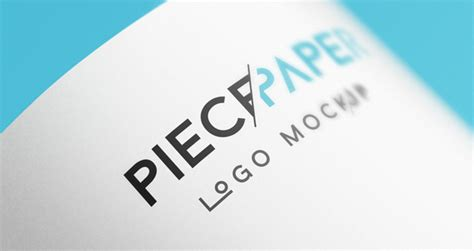 logo mockup psd template paper logo mock up template vol2 psd mock up templates
