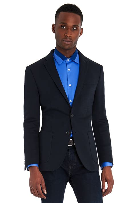 Navy Blue Rayleigh Medium Square Slim Backpack dkny slim fit navy jersey jacket in blue for navy save 73 lyst