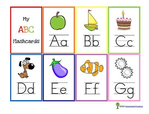 free printable card templates alphabet 13 sets of free printable alphabet flash cards