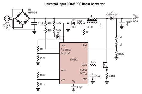 power factor correction design lt8312 boost controller with power factor correction linear technology