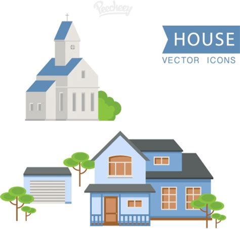 house flat design house set flat design free vector in adobe illustrator ai