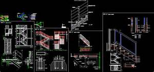Stairs Details Dwg by Stair Detail In Autocad Drawing Bibliocad