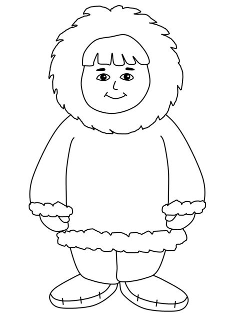 Inuit Coloring Pages eskimo coloring page az coloring pages