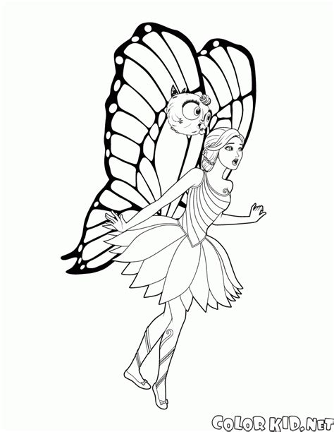 barbie butterfly coloring pages coloring page fairy barbie