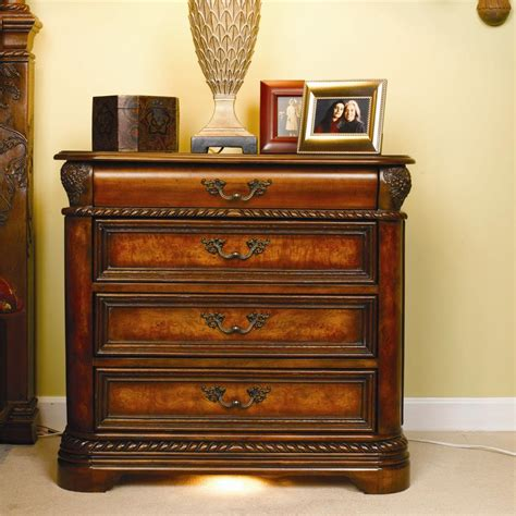 aspenhome napa bedroom aspenhome napa 4 drawer nightstand with pull out drink