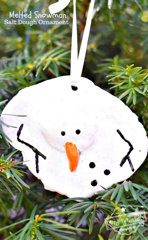 red headed girl water skier ornament a diy melted snowman and salt dough ornament idea and recipe for with