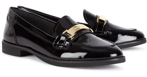 michael kors patent leather loafers michael kors ansley black patent leather loafers in black