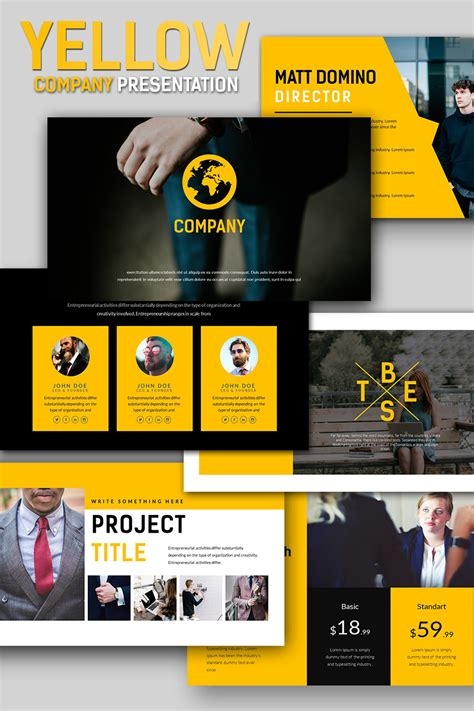 Yellow Company Business Presentation Powerpoint Template 66837 Powerpoint Slide Show Template