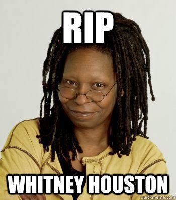 Whitney Houston Memes - rip whitney houston whitney houstin quickmeme