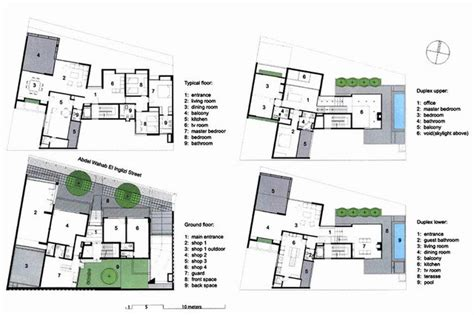 residential building floor plans ground floor typical
