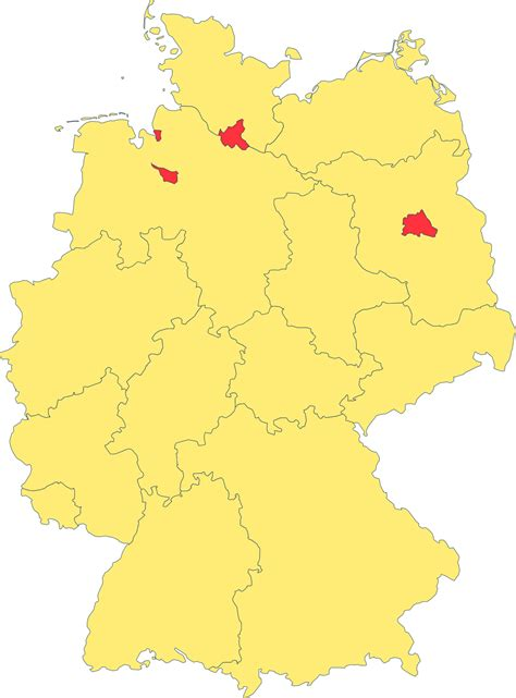 map of the germany states of germany