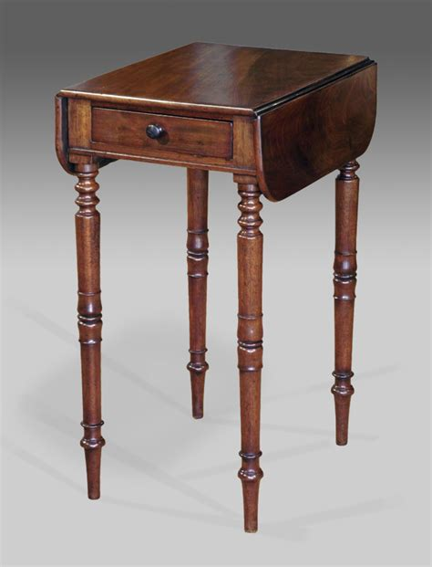 Small Desk With Single Drawer Antique Mahogany Work Table Victorian Work Table