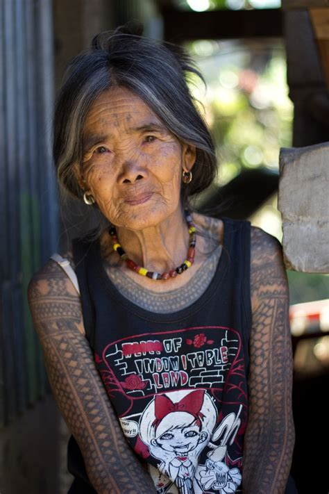 tattooed old lady ancient tattooing in kalinga more than just skin