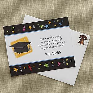 Thank You Note Quotes For Graduation personalized graduation thank you notes let s celebrate