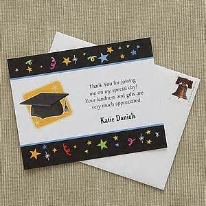 personalized graduation thank you notes let s celebrate