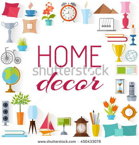 frame place inscription home decor set stock vector