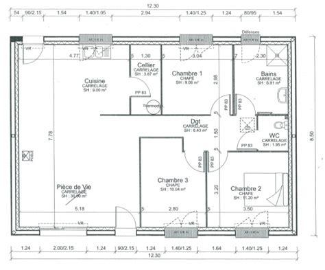 Plan Maison 80m2 Plein Pied 3840 by Plan Maison Plain Pied 80m2 Gratuit