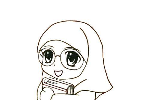 Top Kacamata top gambar kartun muslimah pakai kacamata top gambar