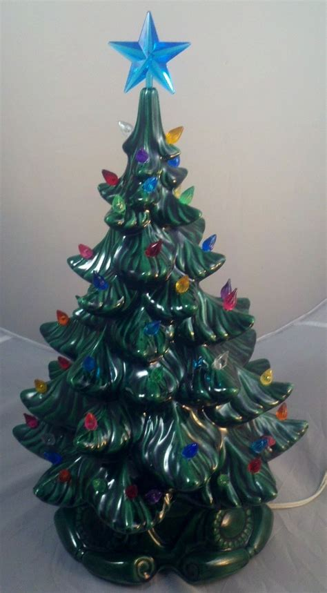 vintage atlantic mold ceramic christmas tree base 19