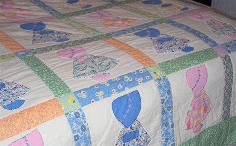 Handmade Vintage - handmade vintage sunbonnet sue quilt
