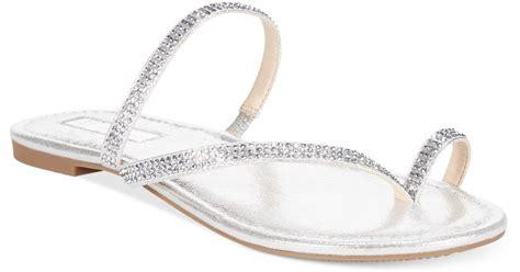 silver pearl sandals inc international concepts s mistye rhinestone flat