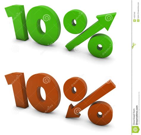 10 percent more free answrme 10 percent stock photography image 14337342