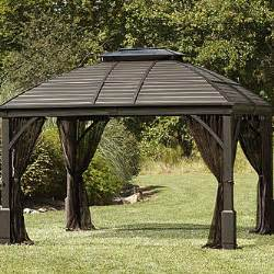 Lighted Gazebo With Speakers by Grand Resort 10 X 12 Hardtop Gazebo With Integrated