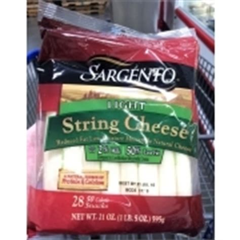 Sargento Light String Cheese Reduced Fat Low Moisture Sargento Light String Cheese