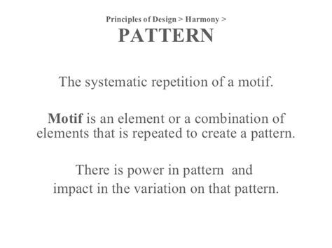 pattern meaning in architecture principles of design
