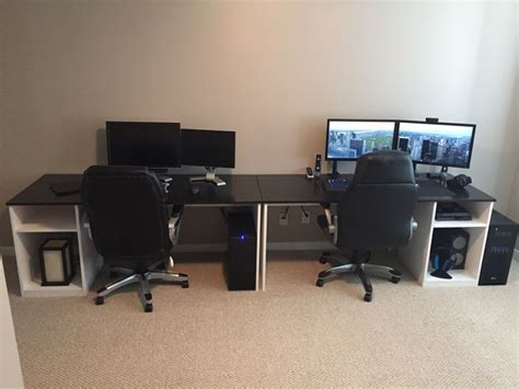 his and hers desk 90 best images about his and her battlestation ideas on
