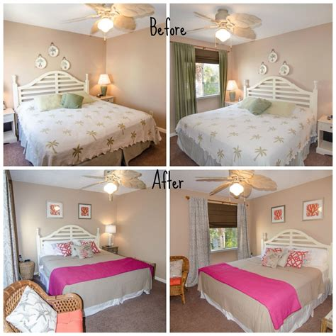 before and after bedrooms at the beach with kris beach investment flipping remodeling