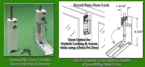 Patio Door Key Lock Keyed Patio Door Lock