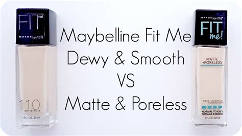 Maybelline Fit Me Matte Poreless Foundation porcelain princess review maybelline fit me dewy