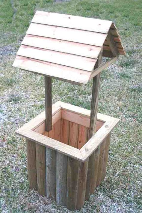 pdf diy wishing well planters birdhouse
