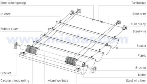 aluminium roll up table cing skylight motorized shades blinds folding within