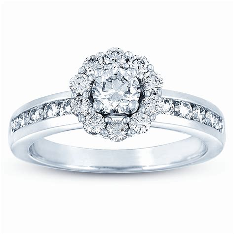 14k white gold 3 8ct tdw engagement ring 171 wedding