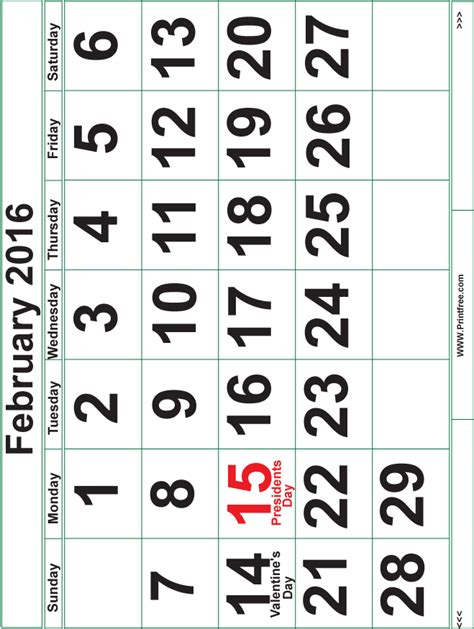 extra large printable monthly calendar search results for extra large calendar template 2016