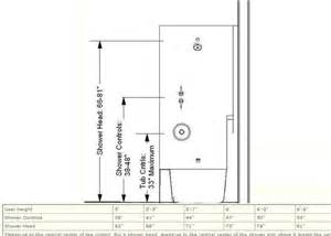 standard height for tub shower faucet the shower controls should be accessible from both inside