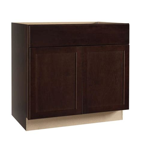 Cabinet Door Glides Hton Bay Shaker Assembled 36x34 5x24 In Base Kitchen Cabinet With Bearing Drawer Glides