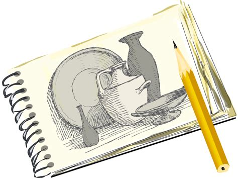 sketch book pdf clipart sketchpad with still