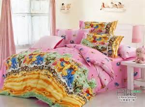 Cheap Kids Comforter Sets Pink Blue Winnie Pooh Duvet Cover Bedding Full Queen King