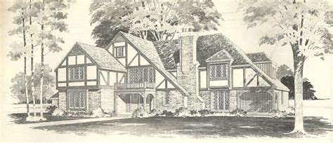 tudor house plans vintage house plans 1970s english style tudor homes antique alter ego