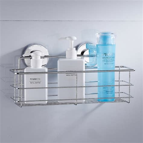 bathroom shelf with suction cups new stainless steel suction cups bath shelves wall towel