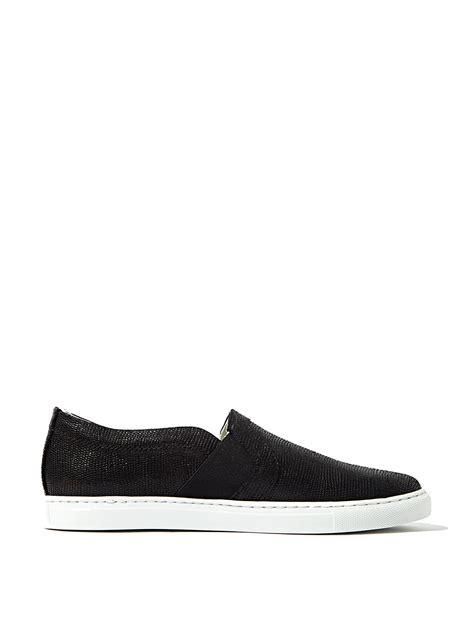 lanvin slip on sneakers lanvin womens slip on sneakers in black lyst