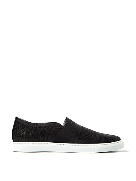 womens black slip on sneakers lanvin womens slip on sneakers in black lyst